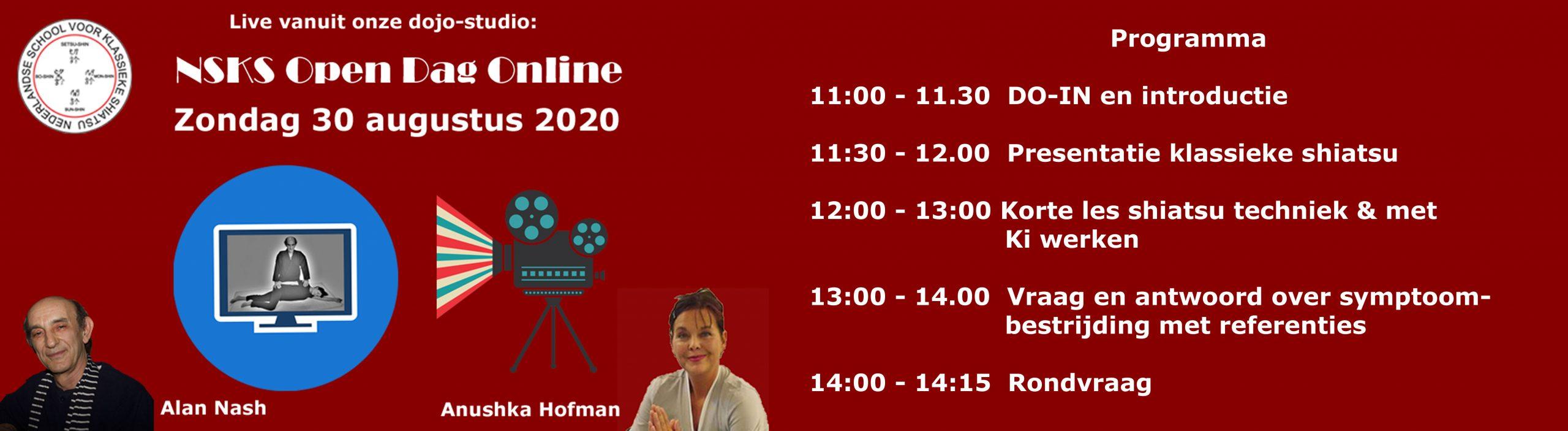 30 augustus 2020 Online Open Dag NSKS