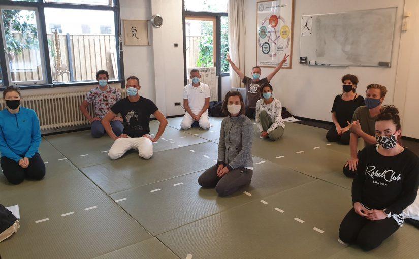 NSKS Shiatsu beroepsopleiding 2 met mondmaskers